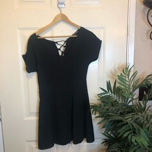 Brandy Melville Black SkaterStyle LaceUp MiniDress